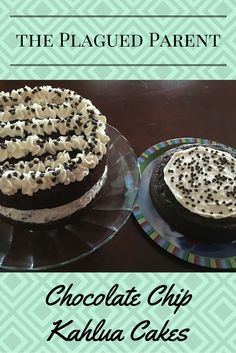 Chocolate Chip Kahlua Cakes