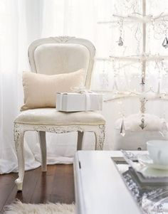 All-white Christmas Decor #holiday #camillestyles