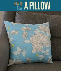Learn how to sew a pillow with a sewing machine with this DIY project. Redecorate your home in 20 minutes & save money by never paying for a pillow again.