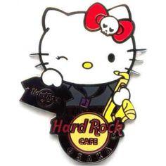 Hard Rock Cafe Osaka UCW 2011 Hello Kitty Staff Pin
