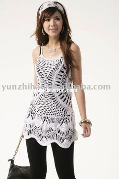 HOT fashion laciness hand crochet tank top from Shantou City Chenghai District Yunhao Clothing Knitting Factory - Bizrice.com