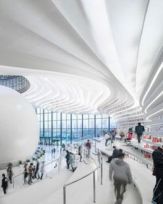 The Tianjin Binhai Library provides an inspired experience while individuals pursue additional knowledge. || Photo: @parametricism_2.0 | Design: MVRDV