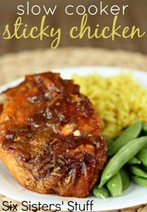 Slow Cooker Sticky Chicken Recipe | AllFreeSlowCookerRecipes.com