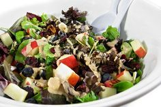 I adore this vegetarian salad and make it all the time. It's so colorful and full of texture and flavor. I especially love adding assorted fruits, a little chopped nuts and cheese to salad gr…