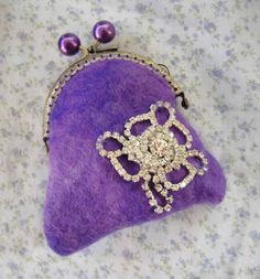 Hey, I found this really awesome Etsy listing at https://www.etsy.com/listing/227417701/purple-felt-purple-wallet-coin-purse