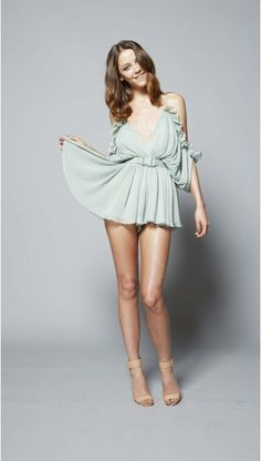 At First Sight Playsuit Moss