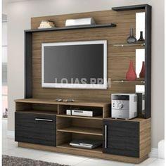 Home Fenix - Móveis Bechara -Espaço para Tv de 96,5 x 134 cm -Portas -Prateleiras de Vidro R$819,90 10x de R$81,99 ou R$696,92 no Boleto ou Transferência
