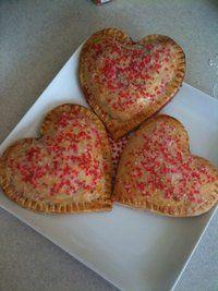 Valentine's day fruit pies