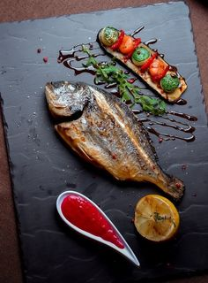 Discover recipes, home ideas, style inspiration and other ideas to try. Fish Recipes, Seafood Recipes, Gourmet Recipes, Cooking Recipes, Gourmet Desserts, Gourmet Foods, Plated Desserts, Food Decoration, Food Plating