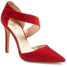 Vince Camuto 'Carlotte' Pointy Toe Pump (Women) available at Halton Hill outlets. I love red and the cobalt options, but I am not crazy with the Velcro fastener. Easy to put on, but that sound! Red Pumps, Red Shoes, High Heel Pumps, Women's Pumps, Me Too Shoes, Hot Heels, Zapatos Shoes, Party Shoes, Beautiful Shoes