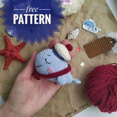 Amiguroom Toys   Free amigurumi patterns Crochet Whale, Crochet Bear, Cute Crochet, Crochet Hooks, Whale Pattern, Crochet Amigurumi Free Patterns, Amigurumi Doll, Crochet Projects, Charts