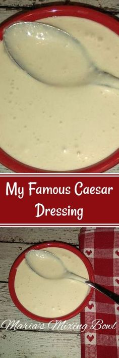 My Famous Caesar Dressing - My friends and family tell me this should be famous. It also makes the perfect dip! Popular Recipes, Great Recipes, Dinner Recipes, Favorite Recipes, Delicious Recipes, Sauces, Low Carb Recipes, Cooking Recipes, Good Food