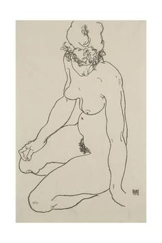 Seated Female Nude, 1918 Giclee Print