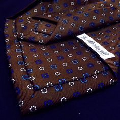 Close up of a 5 fold E. Marinella tie