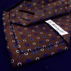 Close up of a 5 fold E. Marinella tie