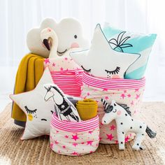 Cute cushions for kids room decor, featured on NONAGON.style
