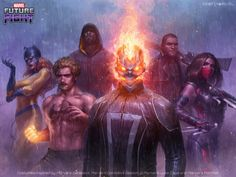 The Defenders for Marvel Future Fight - JeeHyung Lee Ms Marvel, Marvel Heroes, Marvel Characters, Captain Marvel, Marvel Avengers, Marvel Defenders, Dc Comics, Deadpool Comics, Marvel Future Fight
