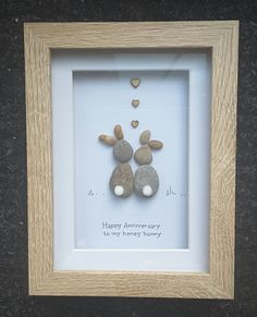Anniversary GiftPebble Art Picturebunny by CoastalPebblesShop