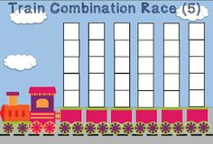 #FREE Unifix Cubes Print & Play Number Combinations 5 & 10 Race Game Mats