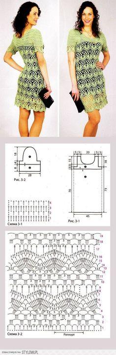 Crochet Dress - Free Crochet Diagram - (stylowi)