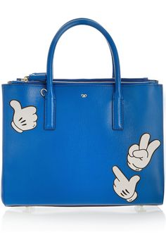 Anya Hindmarch | Mickey Thumbs Up textured-leather adhesive sticker | NET-A-PORTER.COM