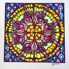 Square Mandala design to color by MandalaShambala Mandalas Painting, Mandala Artwork, Mandalas Drawing, Zentangles, Abstract Coloring Pages, Design Tattoo, Middle School Art, Living At Home, To Color