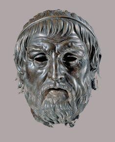 "Portrait of a Poet (""Arundel Head""), c. 200 - 1 BC; bronze and copper. Trustees of the British Museum, London"