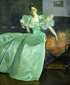 ▴ Artistic Accessories ▴ clothes, jewelry, hats in art - John White Alexander