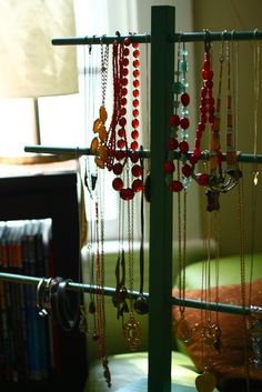pinterest store display jewelry | Rare Bird: DIY Thrift Store Jewelry Display | Booth Space Ideas