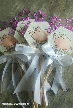 stampin happy new year 2018 goodie  flowerstick piggy pig luck blumenstecker silvester Schweinchen glücksschwein