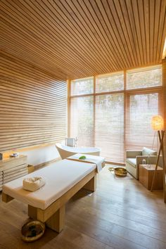 Refresh your mind, body and spirit in one of these life-boosting spa retreats Spa Design, Spa Interior Design, Home Spa Room, Spa Rooms, Massage Room Decor, Spa Treatment Room, Spa Furniture, Outdoor Spa, Wellness Spa