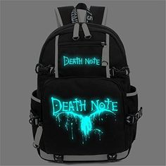 YOYOSHome Anime Cosplay Noctilucence Rucksack Messenger Bag Backpack School Bag - Death Note ** Visit the image link for more details. Anime Outfits, Anime Inspired Outfits, Emo Outfits, Cosplay Outfits, Cute Outfits, Mochila Grunge, Otaku, Death Note Cosplay, Anime Store