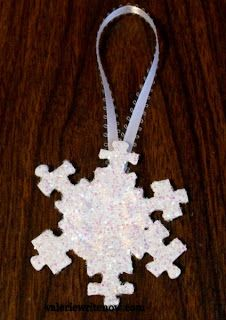 directions-Snowflake Puzzle Piece Ornaments