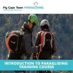 Every fledgeling flyer has to start somewhere, and that somewhere is our Introduction to Paragliding Training Course. This includes learning all about the equipment, how to inflate a glider, and how to take off and land. This is the first step in your training. Paragliding, Training Courses, North Face Backpack, First Step, Cape Town, Take That, Social Media, Teaching, Social Networks