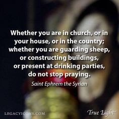 Don't stop praying...