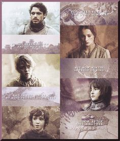 The Stark kids ~ Robb, Sansa, Bran, Arya, Rickon