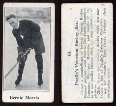 """Bernard Patrick """"Bernie"""" Morris (August 21, 1890 – May 16, 1963) was a Canadian professional ice hockey player. He played for the Seattle Metropolitans of the Pacific Coast Hockey Association. When the Metropolitans became the first U.S.-based team to win the Stanley Cup in 1917, Morris scored 14 of Seattle's goals (in a best-of-five series). Morris also played for the Calgary Tigers, the Boston Bruins and various minor league teams."""