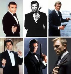 Sean Connery, George Lazenby,  Roger Moore, Timothy Dalton, Pierce Brosnan, Daniel Craig... Bond, James Bond.