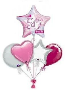 """Make some ones birthday even more special with birthday """"Pink Shimmer Star"""" balloon bouquet. Wonderful Balloon Bouquets From The balloon kings. 60th Birthday Balloons, 21st Birthday, Balloon Bouquet, The Balloon, 50th, Christmas Ornaments, Stars, Holiday Decor, Pink"""