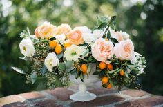 Fruit Bouquet Ideas Center Pieces Floral Centerpieces 62 Ideas For 2019 Orange Blossom Wedding, Orange Wedding, Floral Wedding, Wedding Flowers, Fresh Flowers, Beautiful Flowers, White Flowers, Peach Flowers, Exotic Flowers