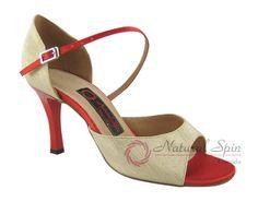 Natural Spin Tango Salsa Shoes/Tango Shoes/Fashion Shoes(Open Toe):  T1102-38_Ye