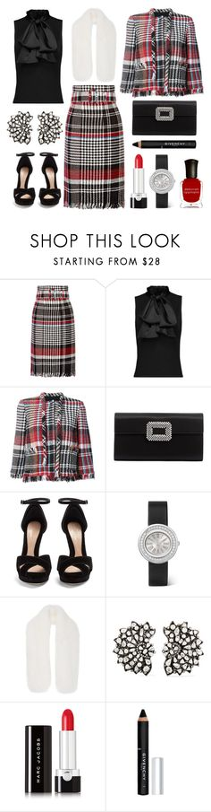 """""""treat me like a lady"""" by theodor44444 ❤ liked on Polyvore featuring Oscar de la Renta, Roger Vivier, Alexander McQueen, Piaget, Amrapali, Marc Jacobs, Givenchy and Deborah Lippmann"""