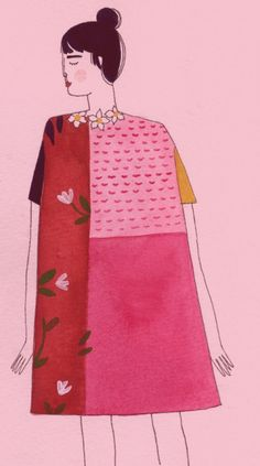 tata-naka by Yelena Bryksenkova (via Illustrated Ladies) #YelenaBryksenkova #pink #lady