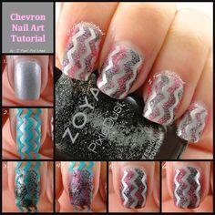 I Feel Polished!: Textured Chevron Nail Art Tutorial