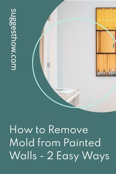 Mold on the painted wall threatens the health of your family living in the home and ruins the appearance of the wall. To restore the beauty of the wall and create a healthy home, knowing how to remove mold from painted walls is essential. Removing the mold can be an easy task if you follow some steps correctly. #DIY #cleaning #homehacks#diytips Household Cleaning Tips, Deep Cleaning Tips, Cleaning Walls, Bathroom Cleaning, Remove Mold, How To Remove, Organization Hacks, Organizing, Concrete Block Walls