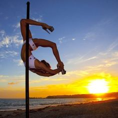 Announcing the 1st place winner of our Instagram contest: Congrats to Elizabeth Keyes Blanchard from OC Pole Fitness AV. Check out her beautiful sunset pole pic wearing PoleFit. Photography by: David Moyle | Orange County California Photographer