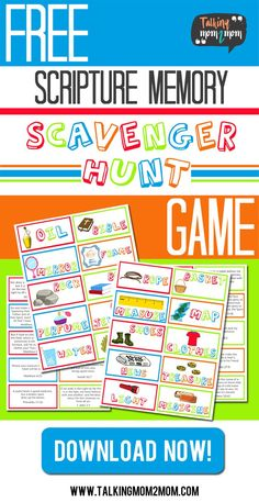 Go on a Scripture Memory Scavenger Hunt as a Family ~ Talking Scavenger Hunt For Kids, Scavenger Hunts, Treasure Hunt For Kids, Scripture Memorization, Bible Scriptures, Memory Games For Kids, Free Mom, Teaching Kids, How To Memorize Things