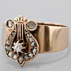 Alpha Chi Omega - lyre ring