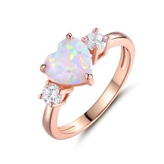 Moissanite Engagement Ring white gold Unique Engagement Ring Vintage Diamond Wedding Twisted Bridal set Stacking Anniversary Gift for Women All our diamonds are natural and not clarity enhanced or treated in anyway. We only use conflict-free diamond Pink Gold Rings, Rose Gold Jewelry, Heart Jewelry, Opal Jewelry, Jewelry Rings, Jewelry Accessories, Fine Jewelry, Jewelry Design, Jewelry Watches