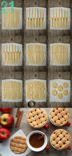 24 Christmas Finger Food Ideas|Random Tuesdays Crust Weave  http://asubtlerevelry.com/?s=pie+crust for more ideas  http://www.thefauxmartha.com/2011/11/07/pie-crust-101/  for the (pie crust) recipe  #christmas #piecrust